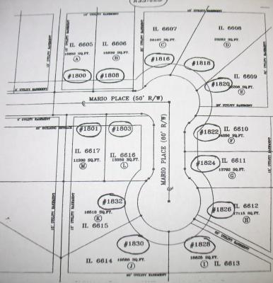 Mario Place Lot Map