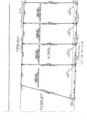 County Road 198 Lot Map